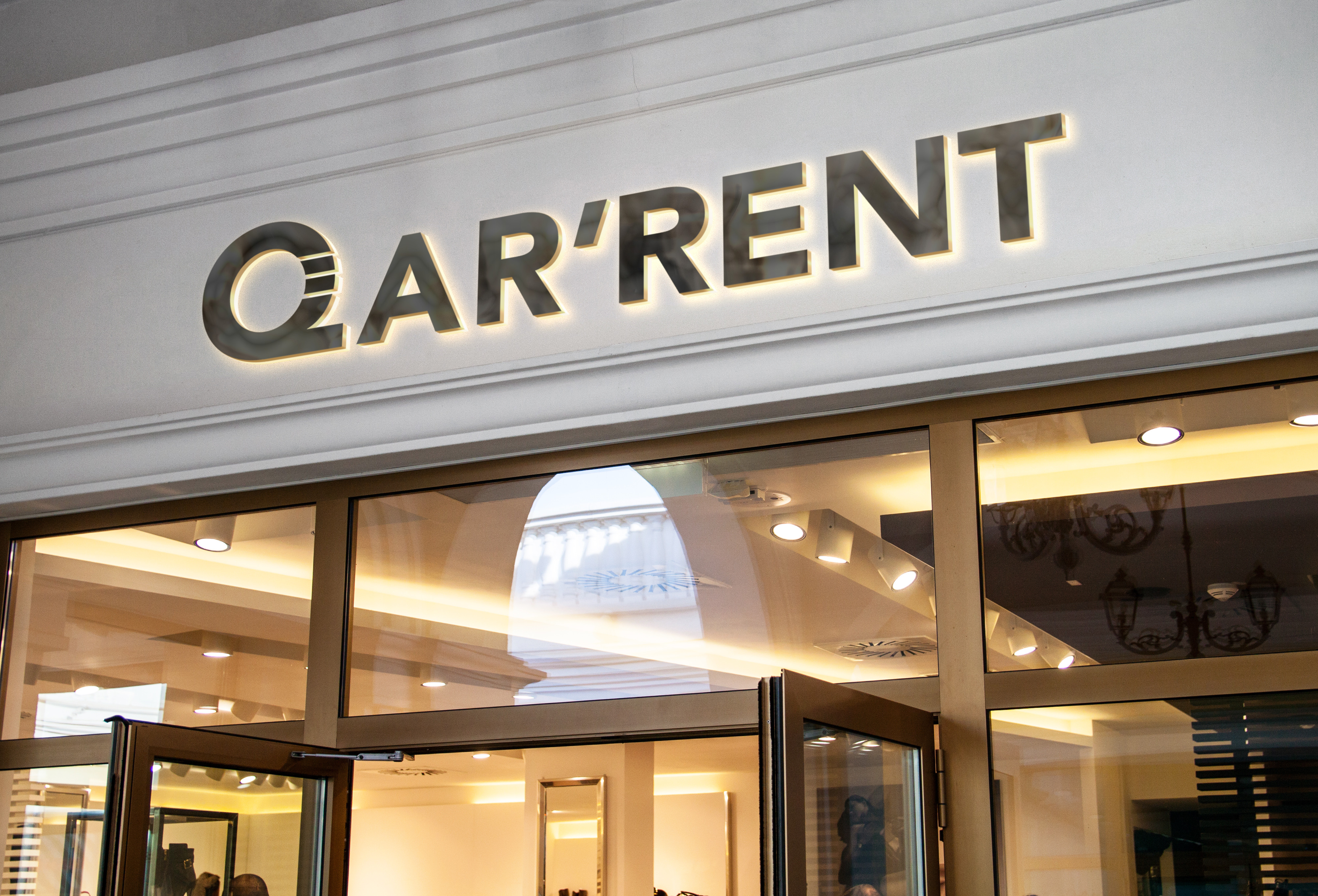 Signalétique du magasin Qar'rent crée par Concepting, agence Webmarketing à Paris